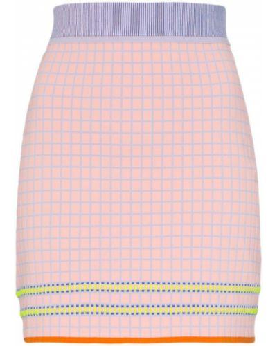 Розовая юбка миди в рубчик I-am-chen
