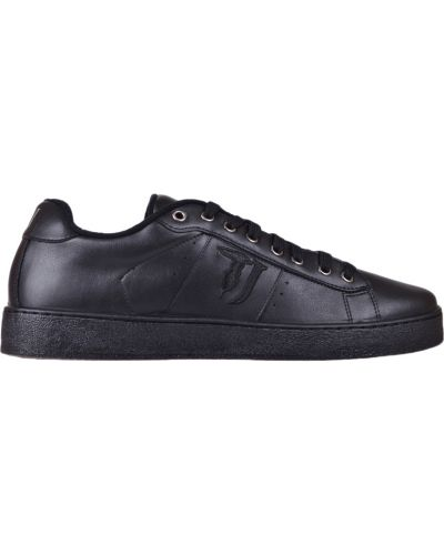 Кеды черные кожаный Trussardi Jeans