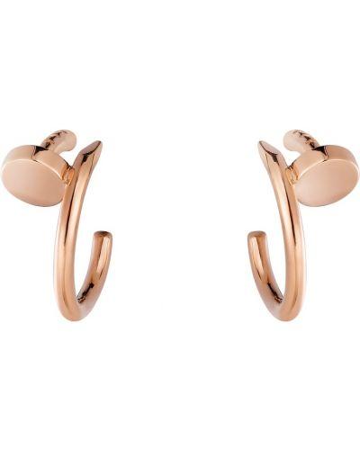 Розовые золотые серьги Cartier