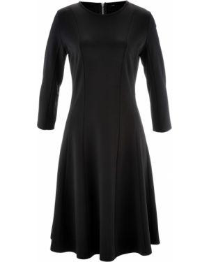 Платье миди на молнии с длинными рукавами Bonprix