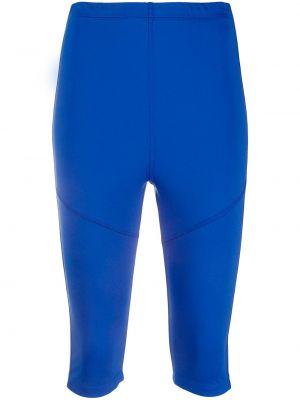 Синие укороченные брюки с поясом Styland