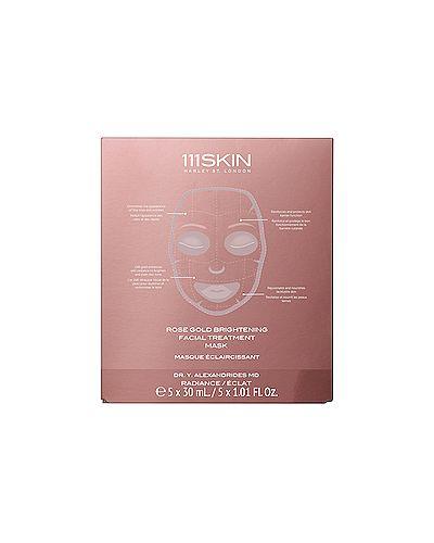 Текстильная маска для лица очищающая золотая 111skin