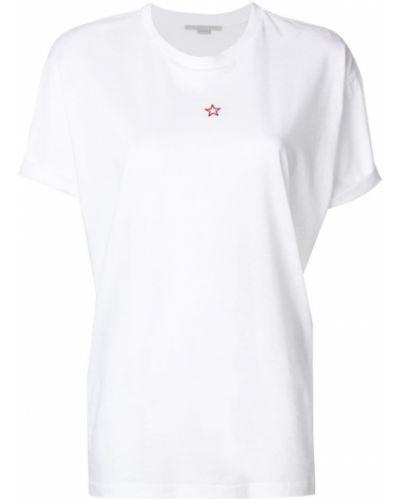 Свободная футболка прямая со звездами Stella Mccartney