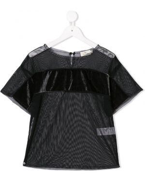 Черная футболка из фатина Andorine