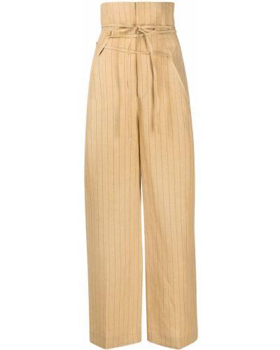 Spodnie z wysokim stanem - żółte Jacquemus