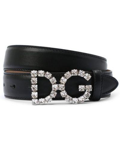 Широкий ремень кожаный с пряжкой Dolce & Gabbana