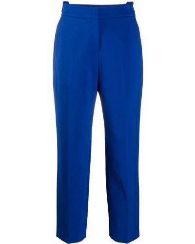 Прямые синие прямые брюки в рубчик с потайной застежкой Sjyp