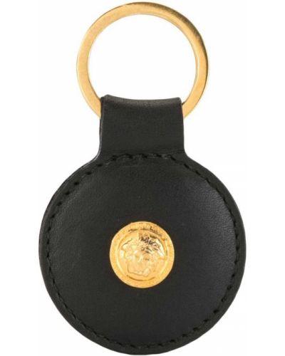 Кожаный черный брелок Versace Pre-owned