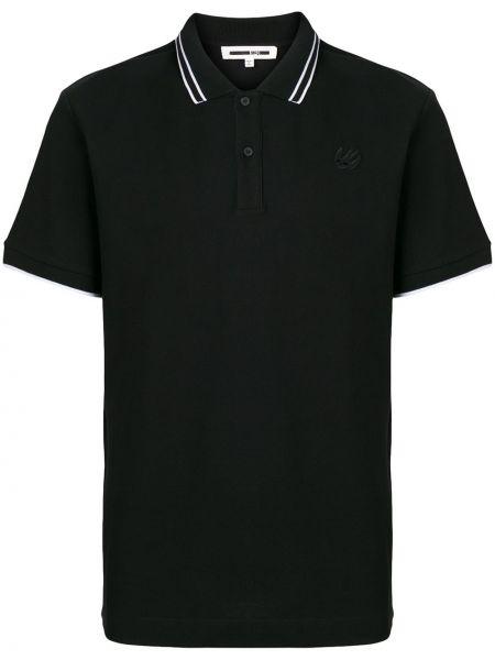 Czarna klasyczna koszula krótki rękaw bawełniana Mcq Alexander Mcqueen