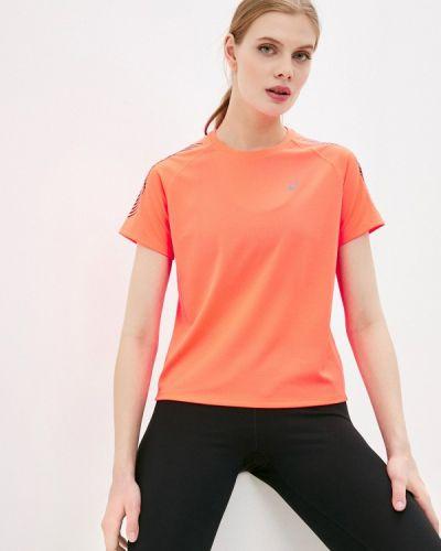 Коралловая спортивная футболка Asics