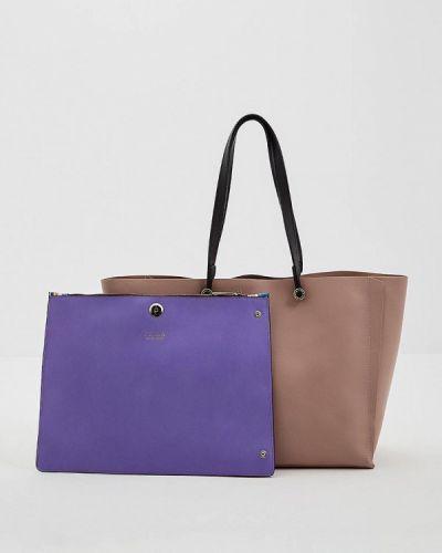 Розовая сумка шоппер Furla