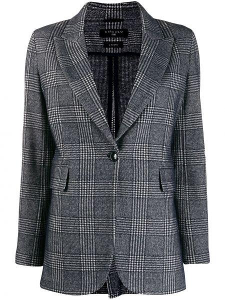 Синий классический пиджак с карманами квадратный Circolo 1901