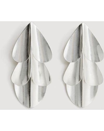 Серьги металлические серебряного цвета Mango