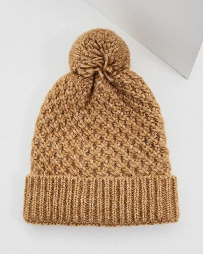 Коричневая шапка осенняя Coccinelle
