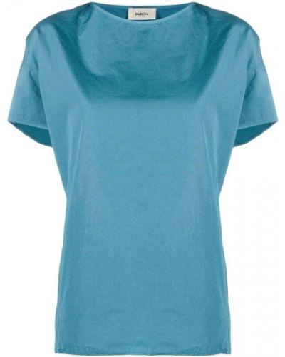 Хлопковая синяя рубашка с короткими рукавами Barena