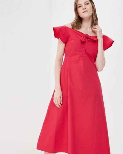 Розовое платье с открытыми плечами Rinascimento