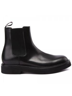 Черные итальянские ботинки Franceschetti