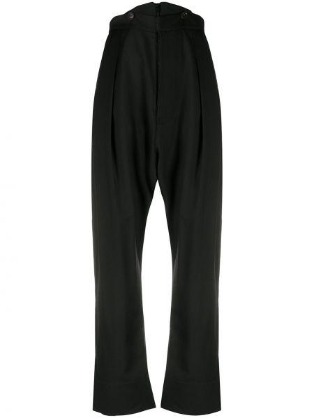 Шерстяные черные с завышенной талией брюки Vivienne Westwood