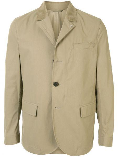 Klasyczna beżowa długa kurtka bawełniana Kent & Curwen