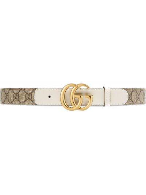 Złoty pasek - biały Gucci