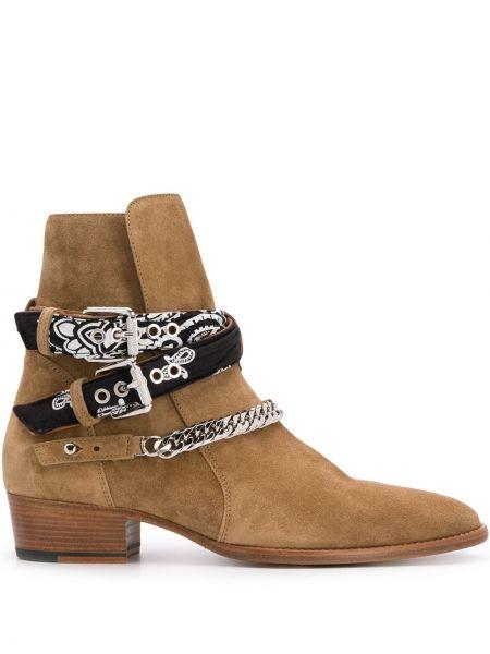 Кожаные ботинки - коричневые Amiri