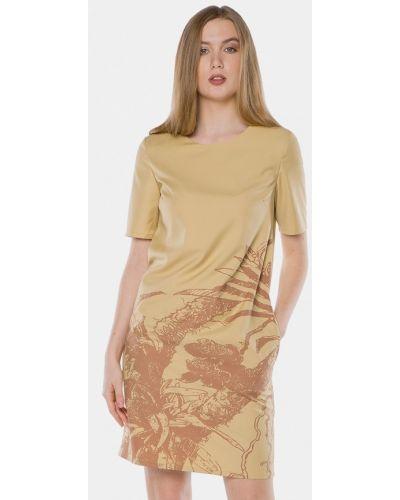 Желтое платье весеннее Mr520