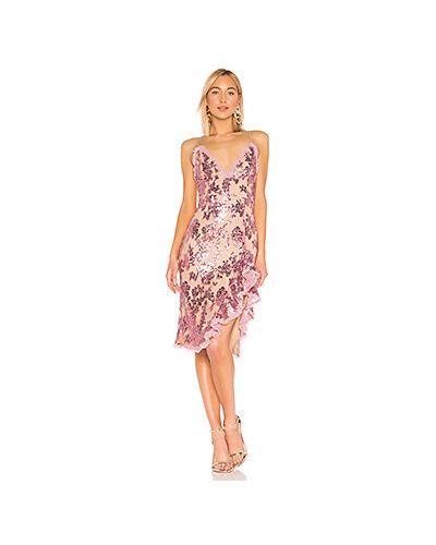 Платье миди розовое с пайетками Nbd