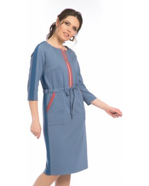 Трикотажное платье - синее Modellos