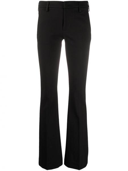 Черные брюки скинни на пуговицах из вискозы Dondup