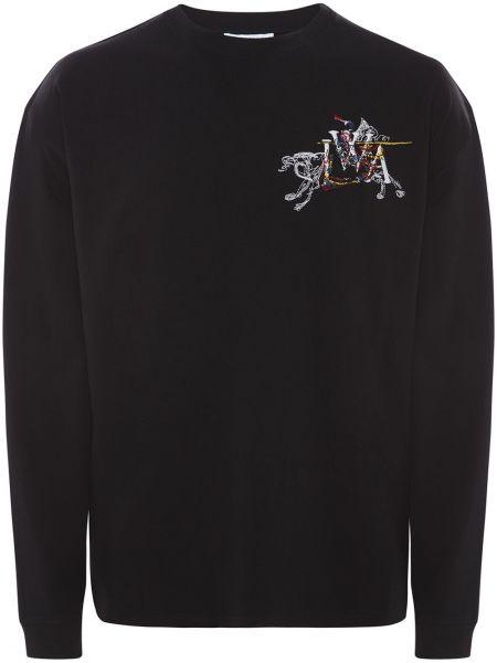 Koszula z długim rękawem długa z haftem Jw Anderson