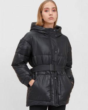 Утепленная куртка демисезонная черная Bizzarro