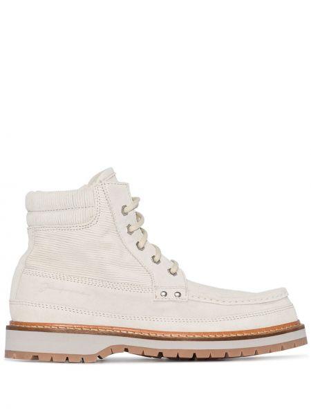 Biały buty z prawdziwej skóry Jacquemus