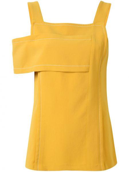 Желтая блузка квадратная с вырезом на молнии 3.1 Phillip Lim