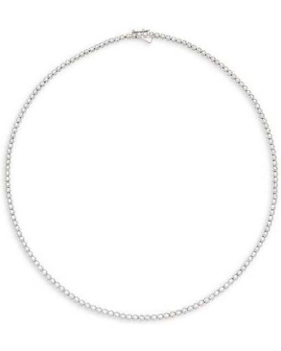 С ромбами ожерелье золотое с бриллиантом Diana M Jewels