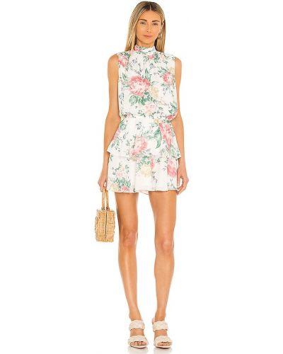 Платье с подкладкой айвори из вискозы винтажное Yumi Kim