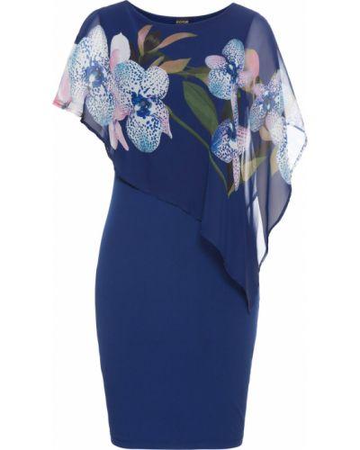 Легкое вечернее платье - синее Bonprix