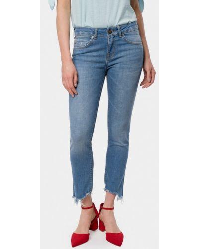 Голубые джинсы-скинни Mr520