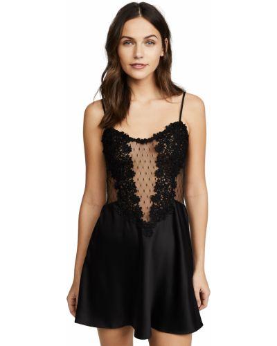 Czarna koszula nocna koronkowa sznurowana Flora Nikrooz