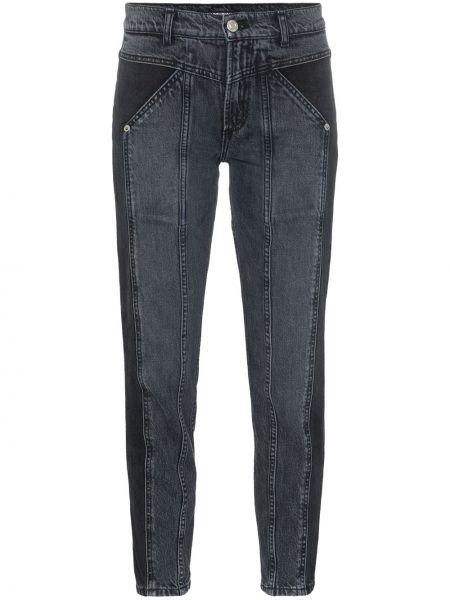Czarne jeansy bawełniane z paskiem Adaptation