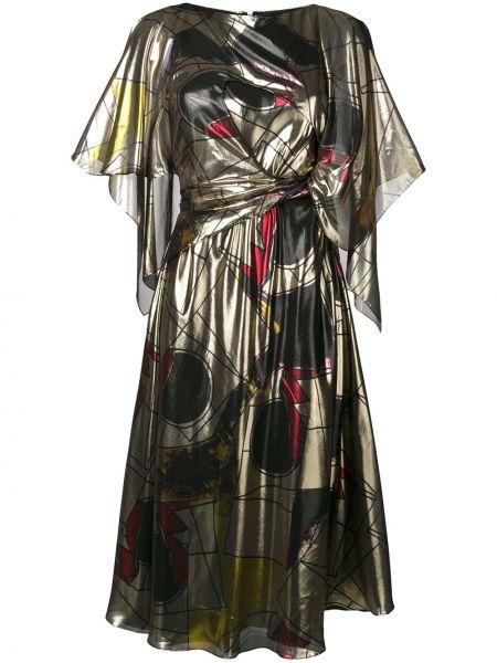 Платье с поясом с рукавами с вырезом Chalayan