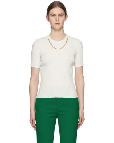 Biały krótkie szorty rozciągać krótkie rękawy z wiskozy Givenchy