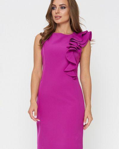 Коктейльное платье весеннее фиолетовый Sellin