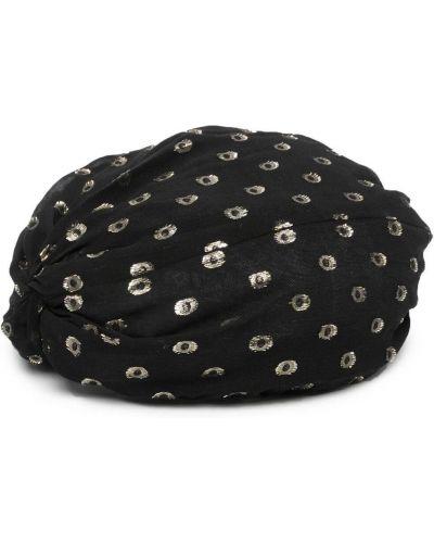 Czarny kapelusz z jedwabiu Pinko