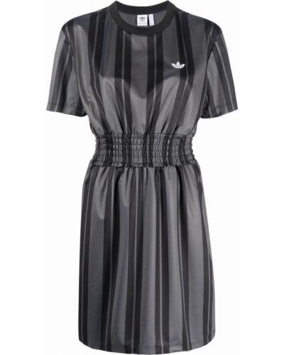 Платье с вышивкой - серое Adidas