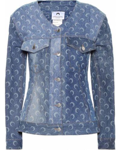 Хлопковая джинсовая куртка - синяя Marine Serre