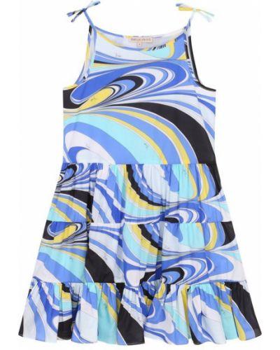 Платье хлопковое с подкладкой Emilio Pucci