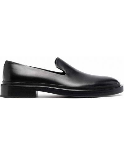Czarne loafers Jil Sander