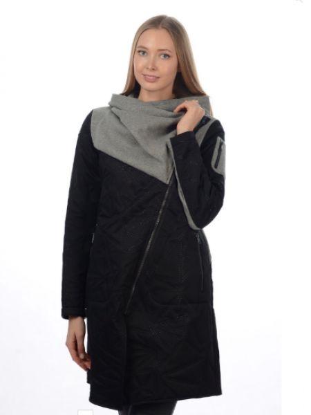 Спортивное пальто с капюшоном с воротником на молнии со вставками Stayer