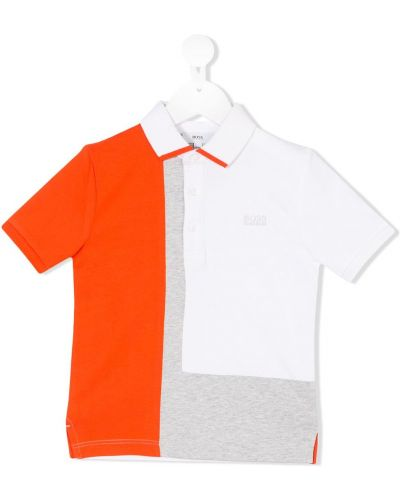Асимметричная белая рубашка Boss Kids