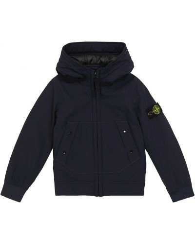 Куртка - синяя Stone Island Junior